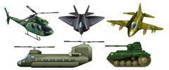 Stock Illustration of Fighting vehicles