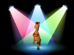 A horse standing at the stage Stock Illustration
