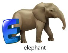 A letter E for elephant Piirros