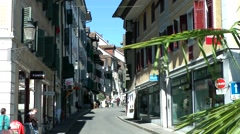 Europe Switzerland city of Solothurn 012 typical alley in old town Stock Footage