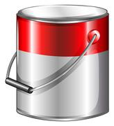 A tin of paint Stock Illustration
