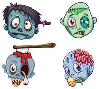 Heads of the zombies Piirros