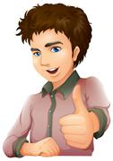 A handsome young businessman Stock Illustration