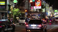 Road traffic on the Beach Road in Pattaya, Thailand Stock Footage