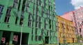 New buildings with many-coloured facades HD Footage