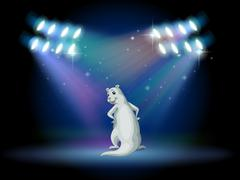 An animal standing with spotlights - stock illustration
