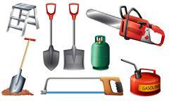 Set of important tools Stock Illustration