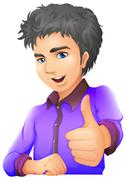 A handsome young man Stock Illustration