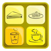 Four snack icons Stock Illustration