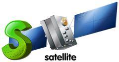A letter S for satellite Stock Illustration