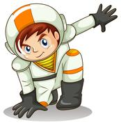 An energetic astronaut Stock Illustration