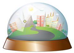 A dome designed city Stock Illustration