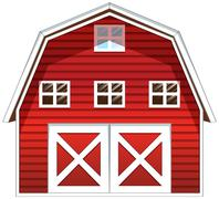 A red barn house Stock Illustration