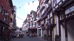 Houses of small German town (Bad Munstereifel). Stock Footage