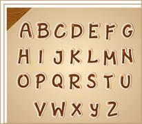 Letters of the alphabet - stock illustration