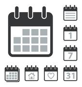 Calendar Icons Set - stock illustration
