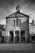 whitby market hall building in the market square - stock photo
