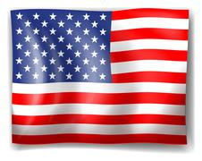 The USA flag Stock Illustration