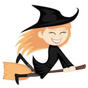 Witches all around Stock Illustration