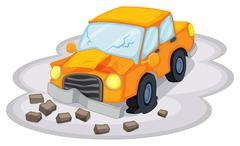 A car accident - stock illustration