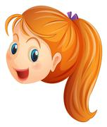 A face of a girl smiling Stock Illustration