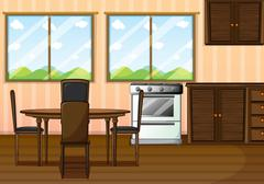 A clean dining room Stock Illustration