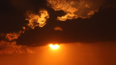 Sunset from clouds Stock Footage
