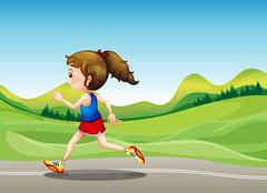 Stock Illustration of The female runner