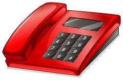 A red telephone Stock Illustration