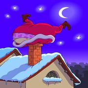 Santa Claus in trouble - stock illustration