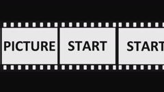 35mm Countdown Picture Start Stock Footage
