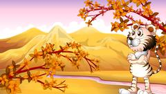 Stock Illustration of View of the mountain during autumn