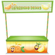 A stall for refreshing drinks - stock illustration