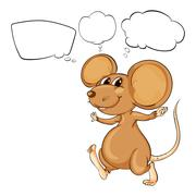 The mighty brown mouse - stock illustration
