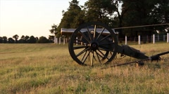 Cannon firing profile Stock Footage