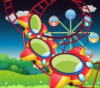 The colorful roller coaster Piirros