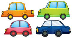 Stock Illustration of Different designs and colors of a transportation