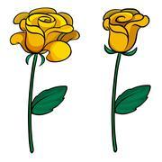 Stock Illustration of Two lovely flowers