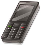 Stock Illustration of A cellular phone