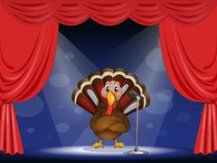 A show with a turkey - stock illustration