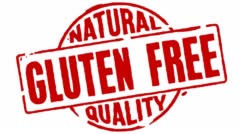 Rubber Stamp Gluten Free Stock Footage