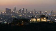 Griffith Park Observatory Night to Day Stock Footage