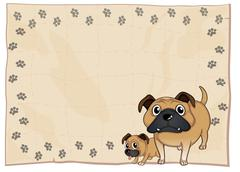 Stock Illustration of An empty stationery with bulldogs