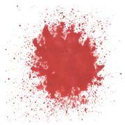 Red watercolor blot Stock Illustration