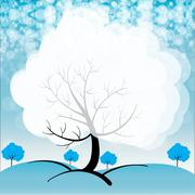 Stock Illustration of A snowy season