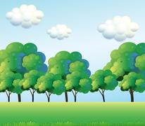 Stock Illustration of The green trees