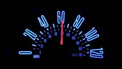 0 to 60 speedometer car racing - stock footage