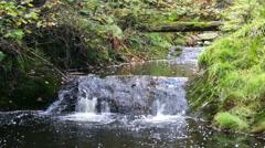 Mountain Creek Waterfall Stock Footage