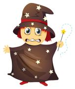Stock Illustration of a wizard