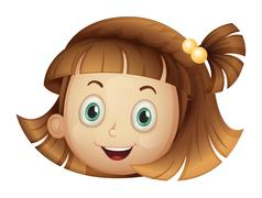 A face of a girl Stock Illustration